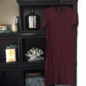 Forever 21 Ribbed Knit T-shirt Dress